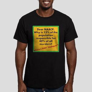 Dear NAACP Men's Fitted T-Shirt (dark)