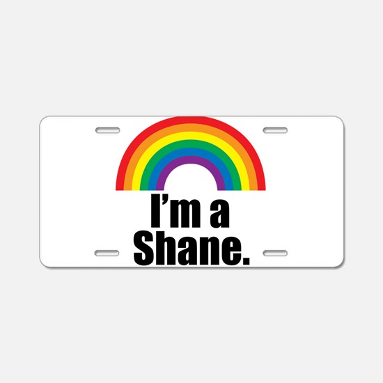 Shane Rainbow Aluminum License Plate