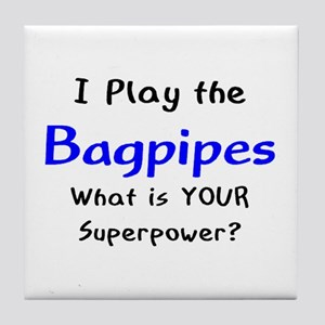 play bagpipes Tile Coaster