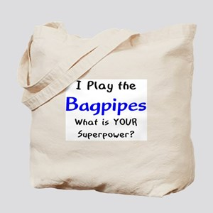 play bagpipes Tote Bag