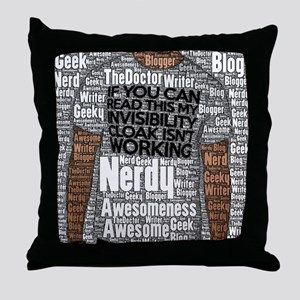 Geek Invisibility Cloak Throw Pillow