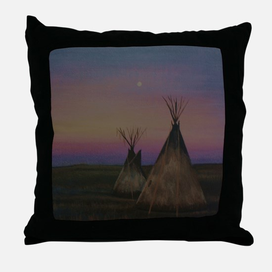 Tepees Throw Pillow