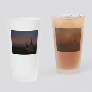 Tepees Drinking Glass