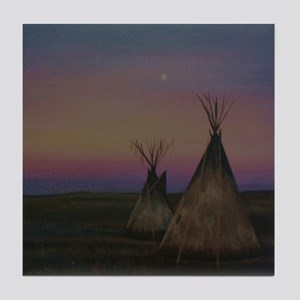 Tepees Tile Coaster