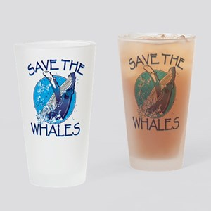 Save the Whales Drinking Glass