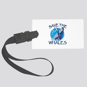 Save the Whales Luggage Tag