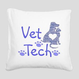 Vet Tech #110 Square Canvas Pillow