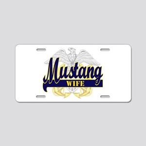 2-mustang wife 2 Aluminum License Plate