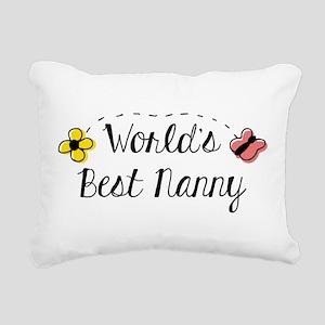 World's Best Nanny Rectangular Canvas Pillow