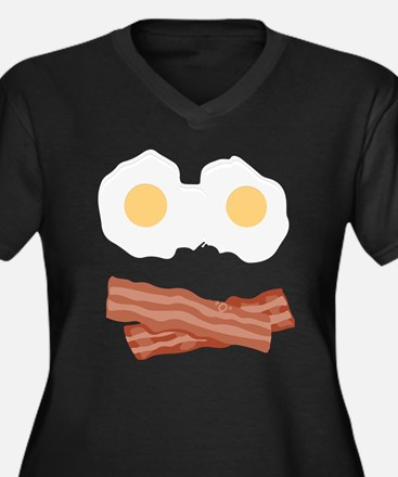 Bacon Smiley Plus Size T-Shirt