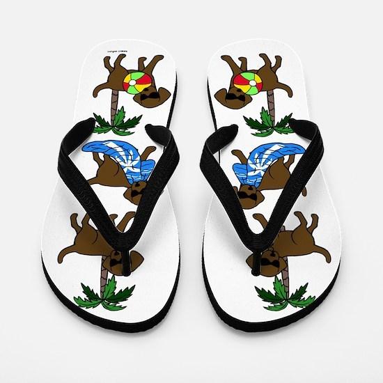 Go To Beach Chocolate Labs Flip Flops