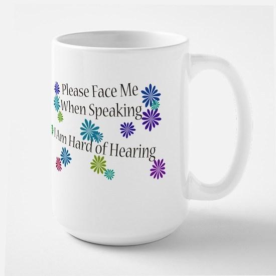 Hard of Hearing Flowers Mug
