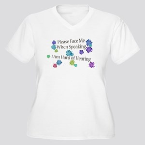 Hard of Hearing Flowers Plus Size T-Shirt