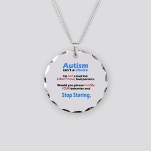 Autism isn't a choice Necklace Circle Charm