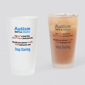 Autism isn't a choice Drinking Glass
