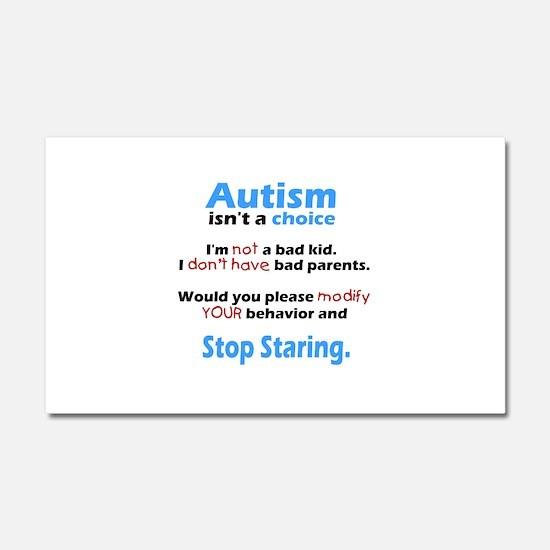 Autism isn't a choice Car Magnet 20 x 12