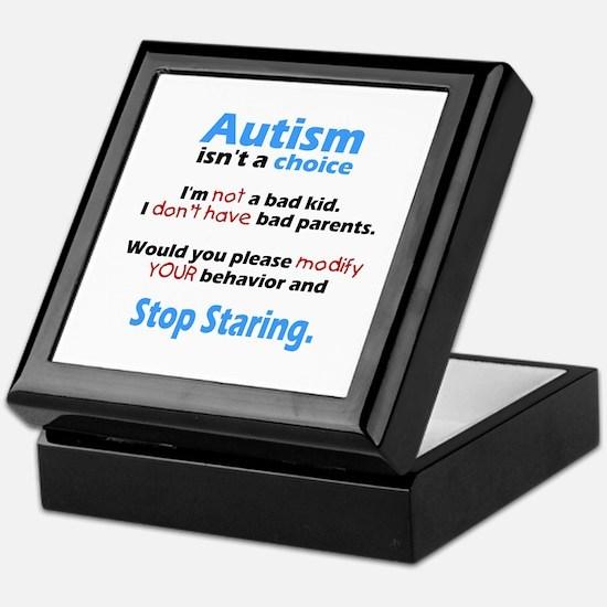 Autism isn't a choice Keepsake Box