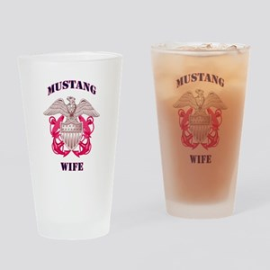 mustang wife pink Drinking Glass