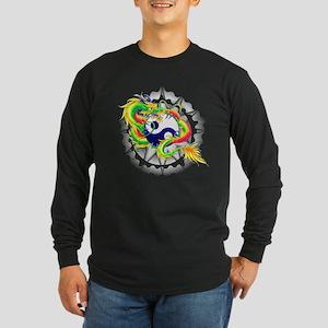 Yin and Yang Dragon Symbol Long Sleeve T-Shirt