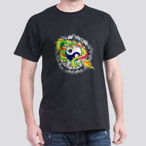 Yin and Yang Dragon Symbol T-Shirt