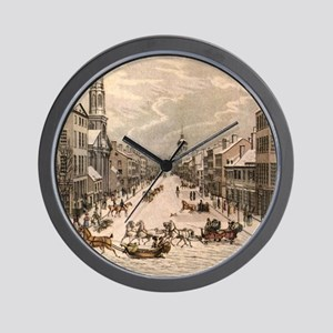 Wall Street Winter Wall Clock