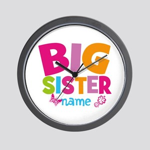 Personalized Name - Big Sister Wall Clock