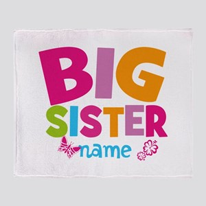 Personalized Name - Big Sister Throw Blanket
