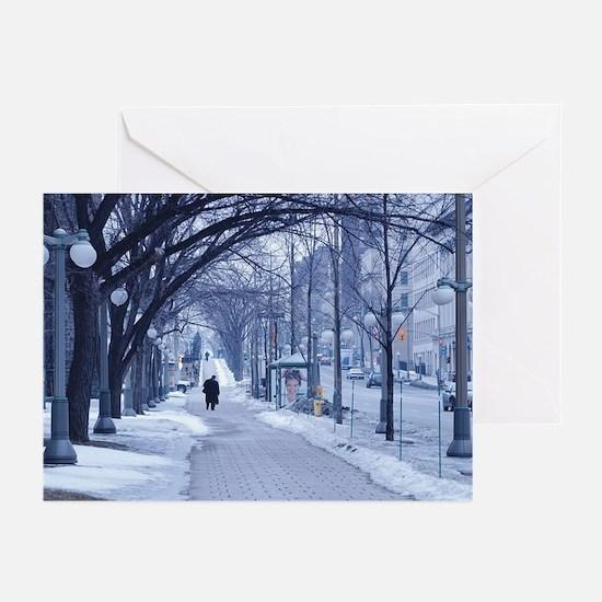 Snowy City Street Greeting Cards (Pk of 10)