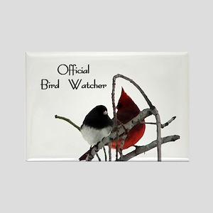 Official Bird Watcher Rectangle Magnet