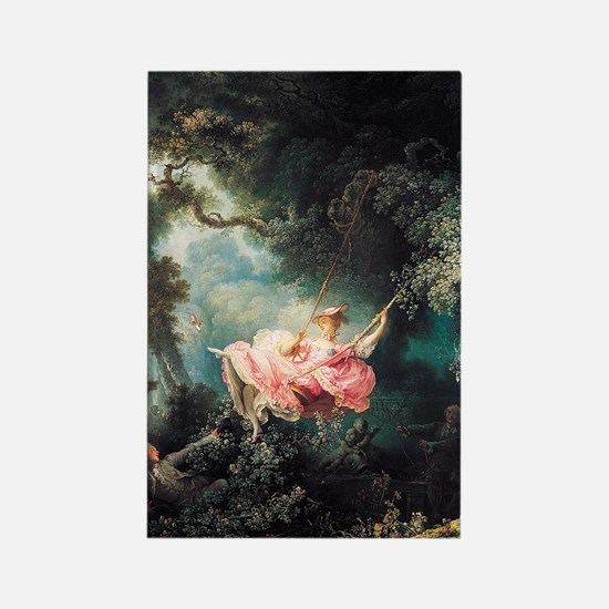 Fragonard The Swing Rectangle Magnet