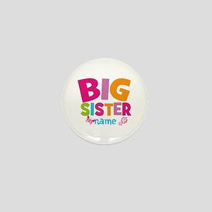 Personalized Name - Big Sister Mini Button