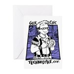 Greeting Cards (6) - Geek Chic - $5 Dona