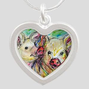 piglets, pig pair Necklaces