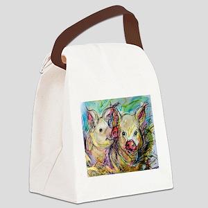 piglets, pig pair Canvas Lunch Bag