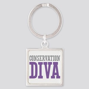 Conservation DIVA Square Keychain