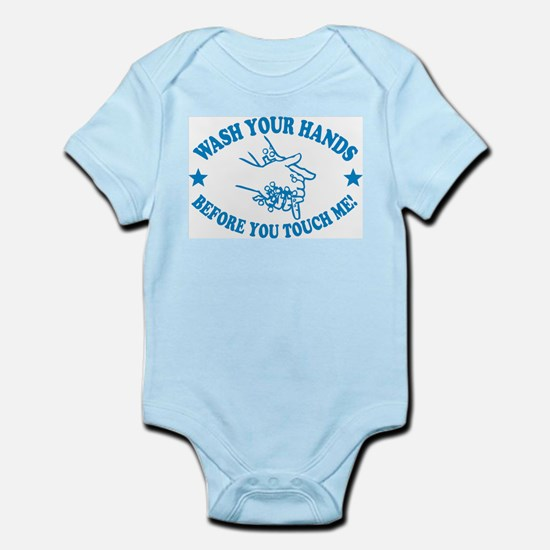 Wash Your Hands! Blue Infant Bodysuit