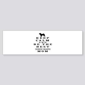 Keep Calm Chinese Sharpei Designs Sticker (Bumper)