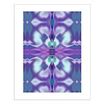 'Virtual Violets' Small Poster