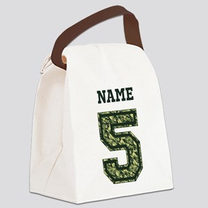 Personalized Camo 5 Canvas Lunch Bag