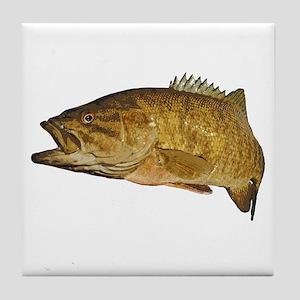 Smallmouth Bass Art Affect Tile Coaster