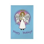 Happy Holidays ILY Angel Rectangle Magnet (10 pack