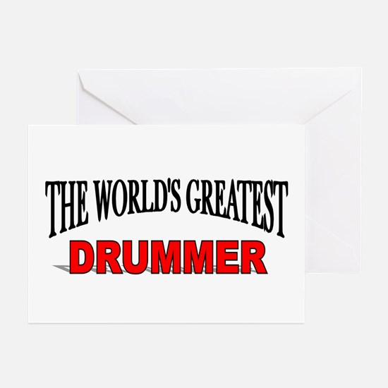 """""""The World's Greatest Drummer"""" Greeting Cards (Pac"""