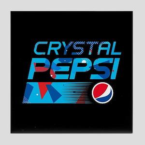 Crystal Pepsi Pattern Tile Coaster