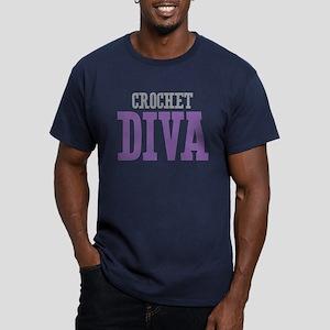 Crochet DIVA Men's Fitted T-Shirt (dark)