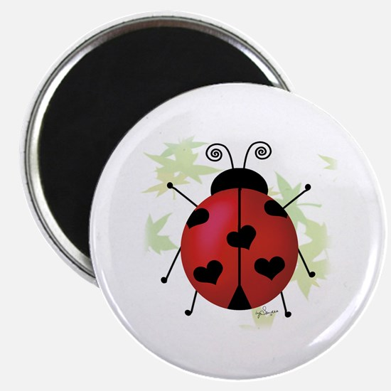 Heart Ladybug Magnet