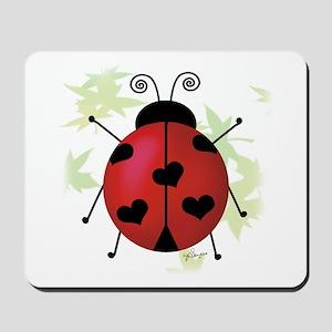Heart Ladybug Mousepad