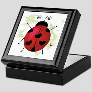 Heart Ladybug Keepsake Box
