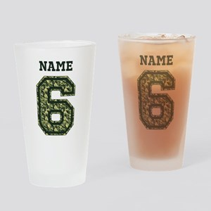 Personalized Camo 6 Drinking Glass