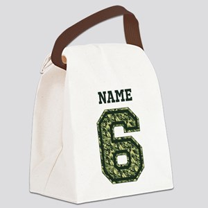 Personalized Camo 6 Canvas Lunch Bag