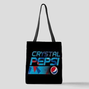 Crystal Pepsi Pattern Polyester Tote Bag